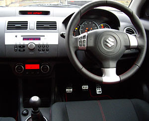 sports car: Suzuki Swift Sport Interior