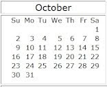 October 2011 events