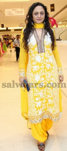 Yellow Color Neerus Salwar