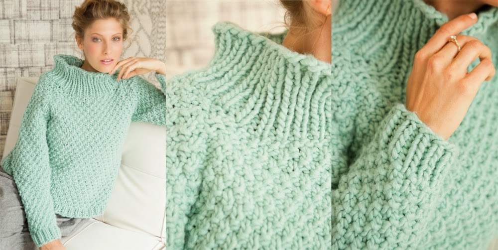 Moss Stitch Jumper Knitting Pattern : The Knitting Needle and the Damage Done: Vogue Knitting Holiday 2014: A Review