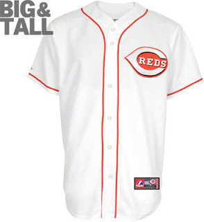 Big and Tall Cincinnati Reds MLB Home White Jersey