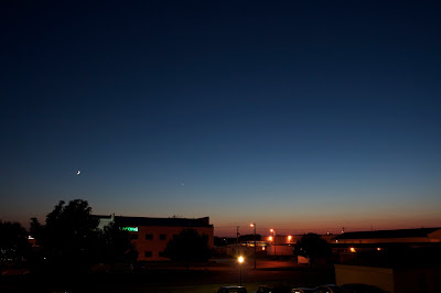 wide angle moon with venus
