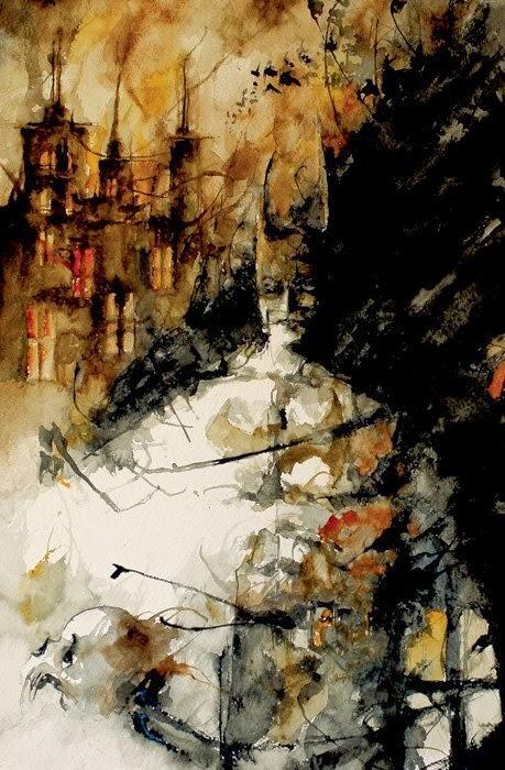 Daniele Serra multigrade deviantart ilustrações quadrinhos pinturas aquarela sombrias terror macabro capas
