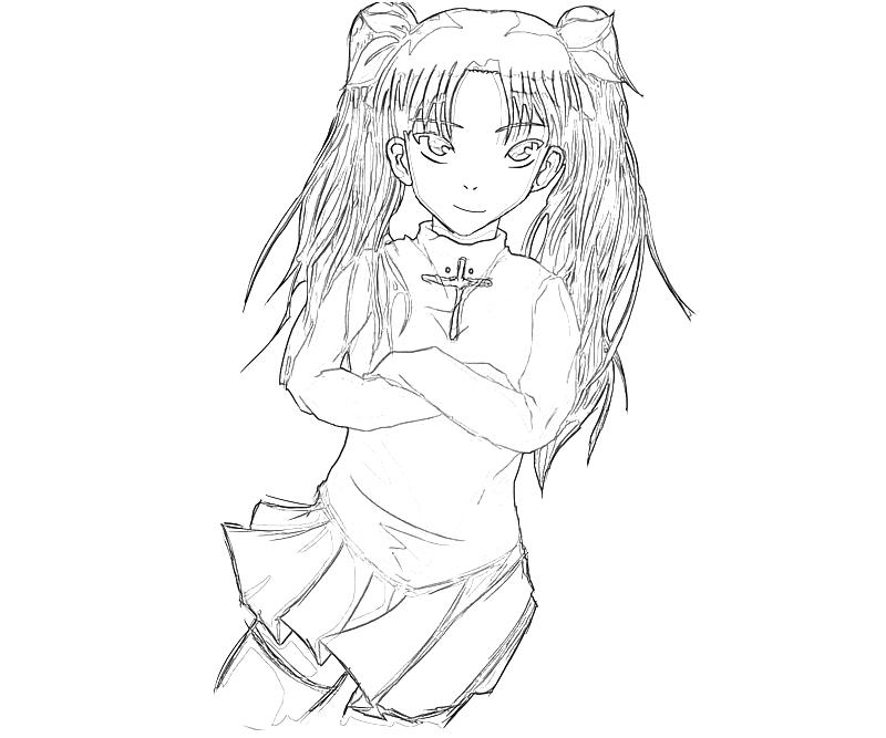 printable-rin-tohsaka-funny-coloring-pages