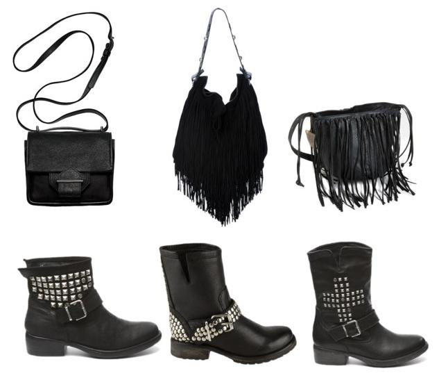 INVITO boots, Steve Madden Boots, DSQUARED2 fringed bag, House of Harlow Skylar Bucket Bag