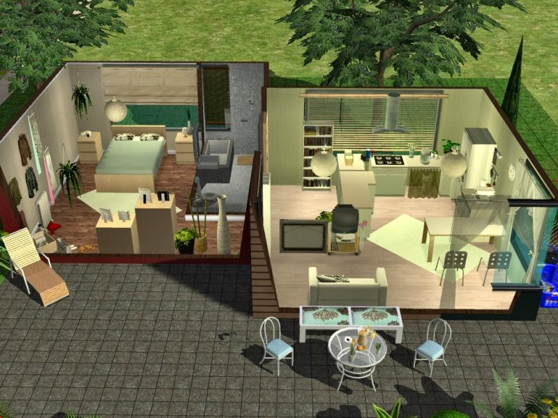 Simplified sims 2 haus simsstreet 1 for Modernes haus sims 2