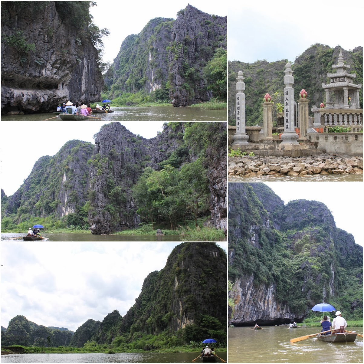 An enjoyable and breezing to see beautiful natural setting of paddy fields, rock formation, caves and landscape along Tam Coc river near the city of Ninh Bình in northern Vietnam