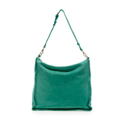 Zara bolso turquesa