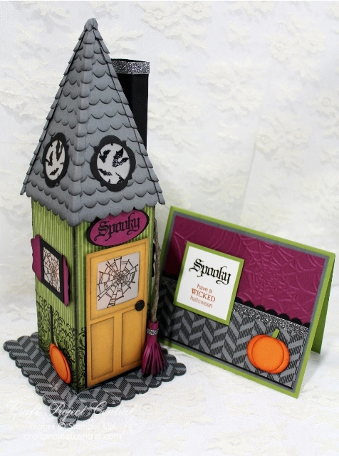 Witch's Cottage Luminary and Card