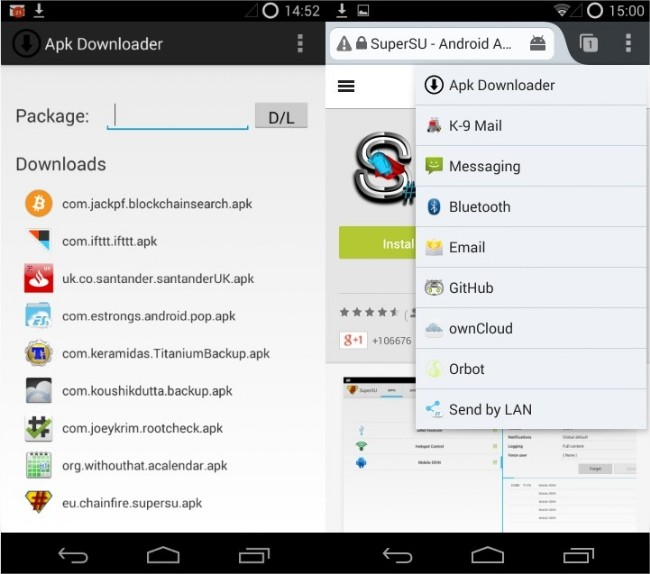 Descarga directamente aplicaciones de Google Play desde tu Android: APK Downloader Extension