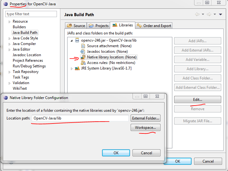 Share The Vision Java Opencv With Eclipse On Windows 7