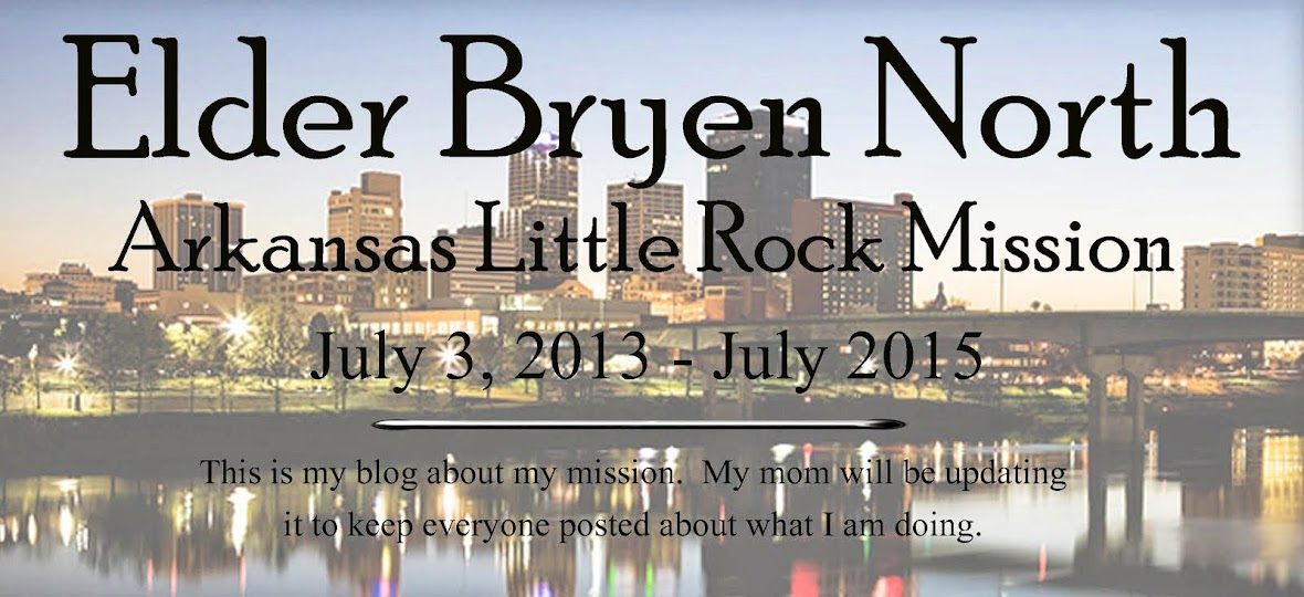 Elder Bryen North Mission Blog