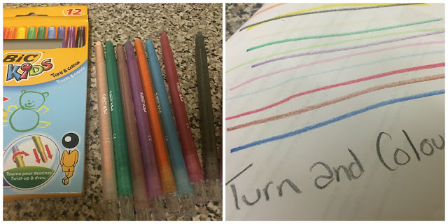 Turn and Colour Crayon's by Bic