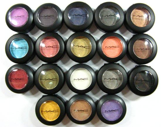 Sombras de MAC por grupos de colores