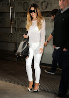 Cheryl Cole white outfit