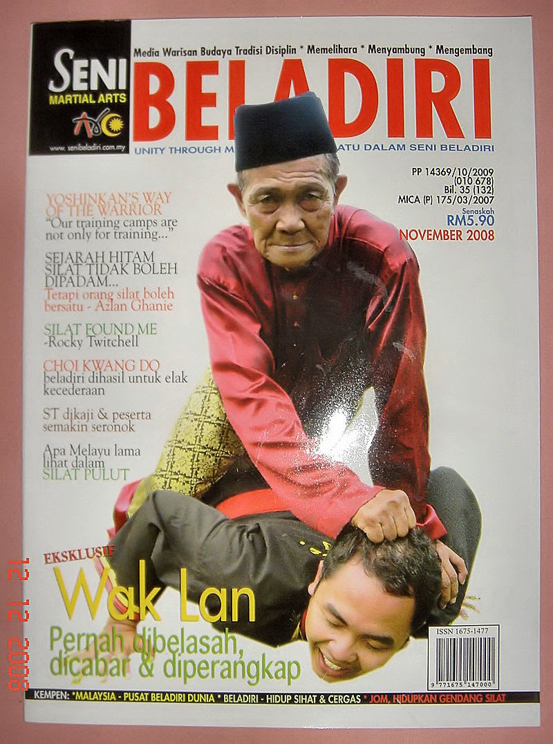 I write for Seni Beladiri Magazine