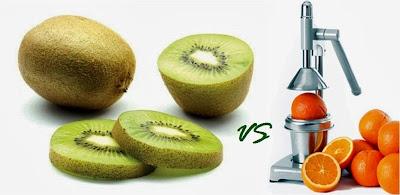 perbandingan antara buah kiwi dan jeruk