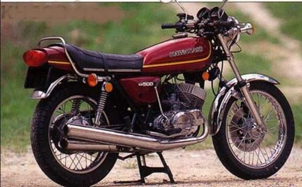 Gambar Motor Klasik Kawasaki KH500