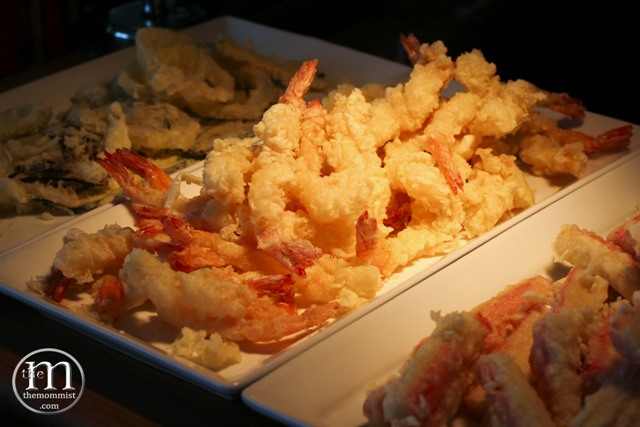 Ebi tempura. Kani tempura