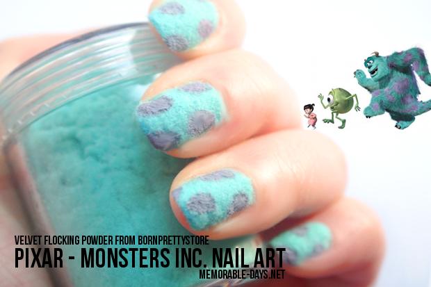 pixar monsters . inspired nail