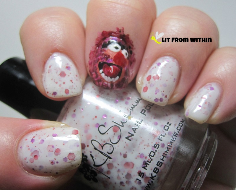 Muppet Animal nail art