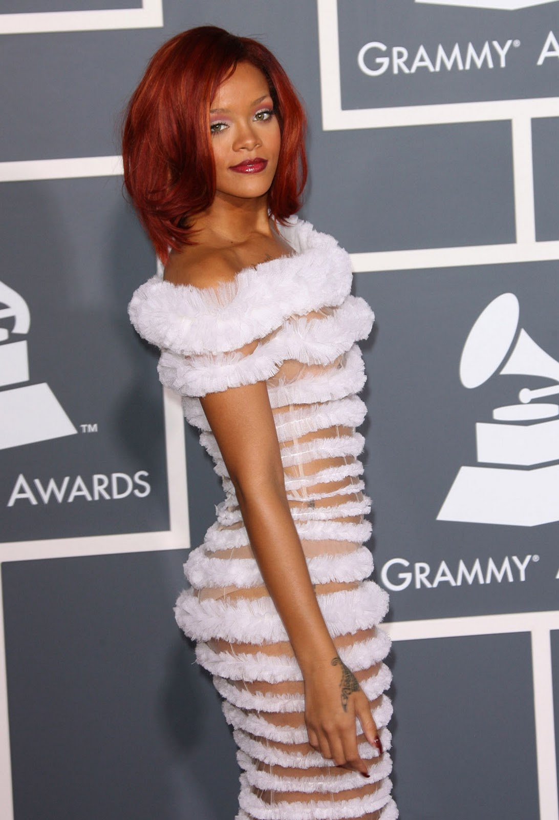 Sexy actress from india rihanna see through white dress