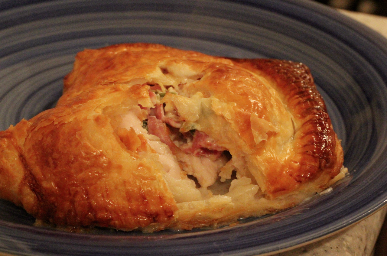 how to make cheese and bacon parcels