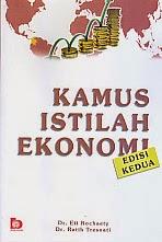 toko buku rahma: buku KAMUS ISTILAH EKONOMI EDISI KEDUA, pengarang eti rochaety, penerbit bumi aksara