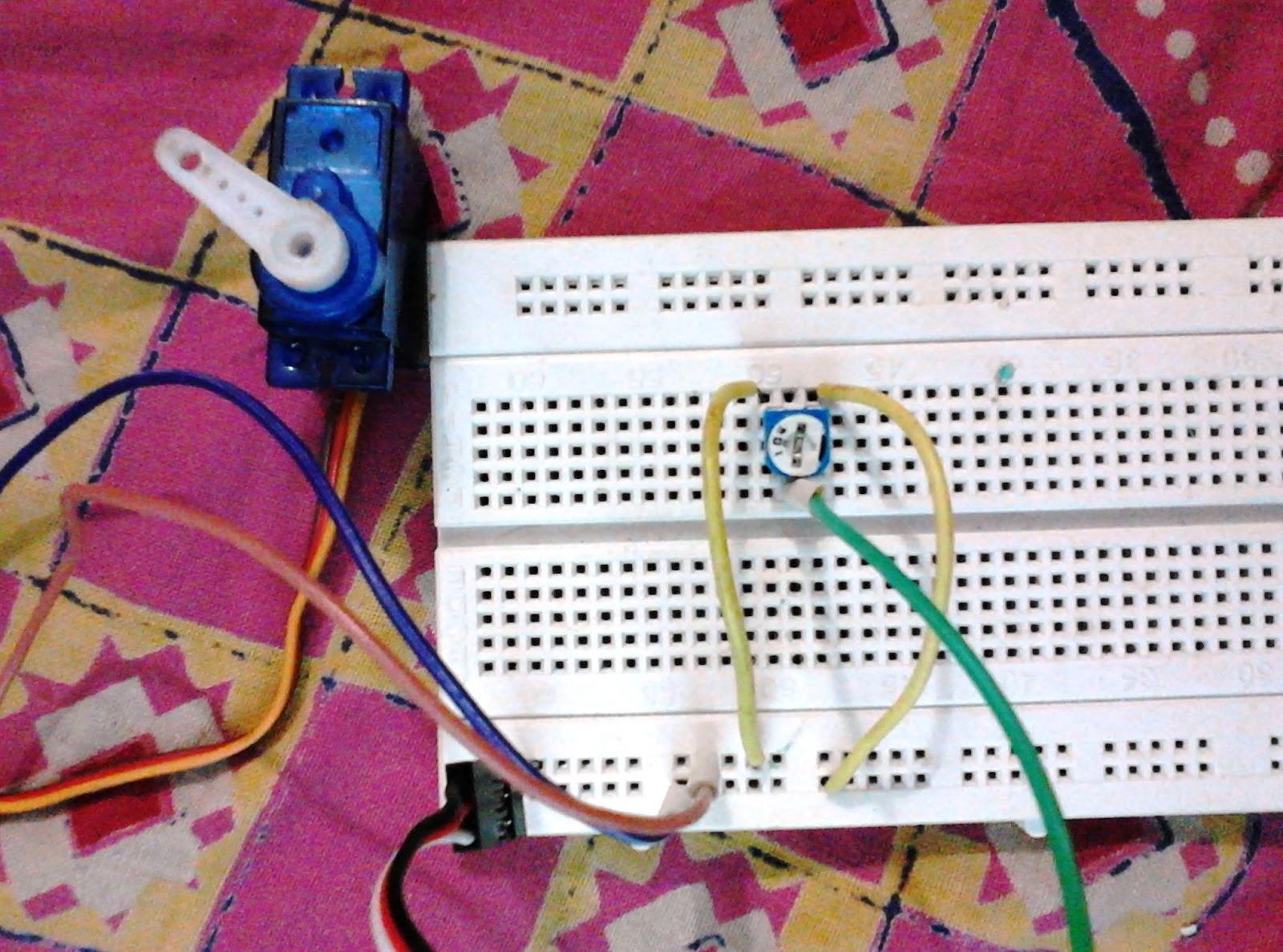 arduino servo control using variable resistor electronixxServo Motor Using Freeduino Arduino Project With Circuit Diagram #10