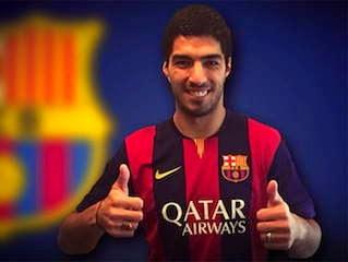 Luis Suárez debut Barcelona FC