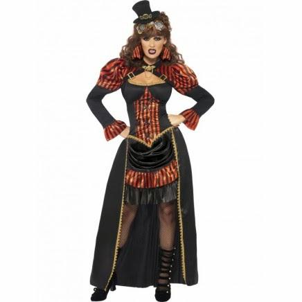 Disfraz de Vampiresa Victoriana Steampunk