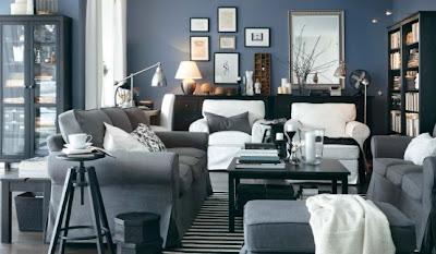 IKEA Living Room Decorating Design Ideas 2012