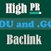 Kumpulan Backlink .EDU dan .GOV High PR Berkualitas