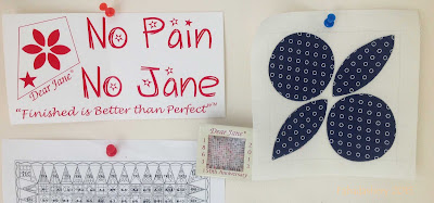 Dear Jane Quilt - Block F13 Tour de France