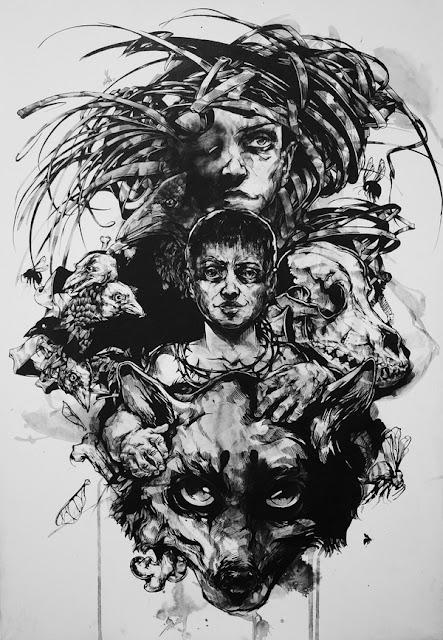 Черно-белые иллюстрации Виктора Миллера Гауса