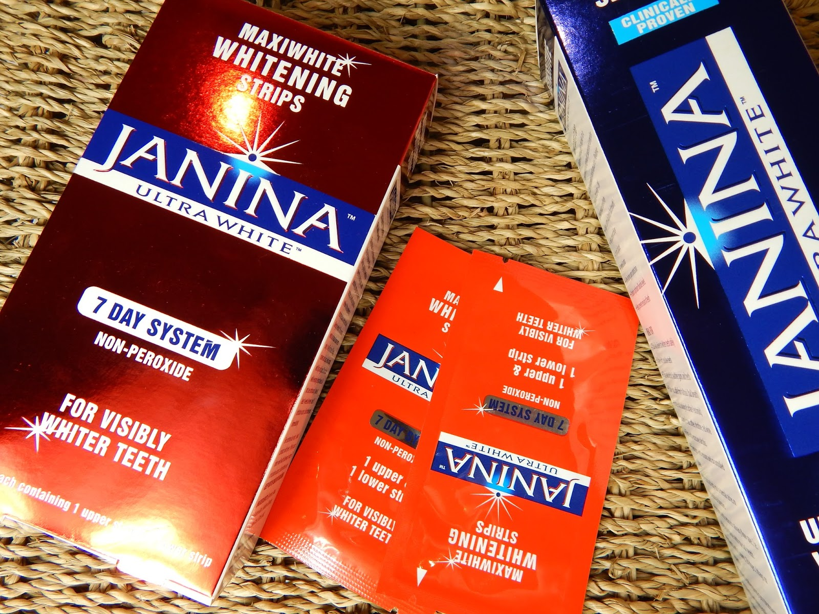 Janina Teeth Whitening Toothpaste and Whitening Strips