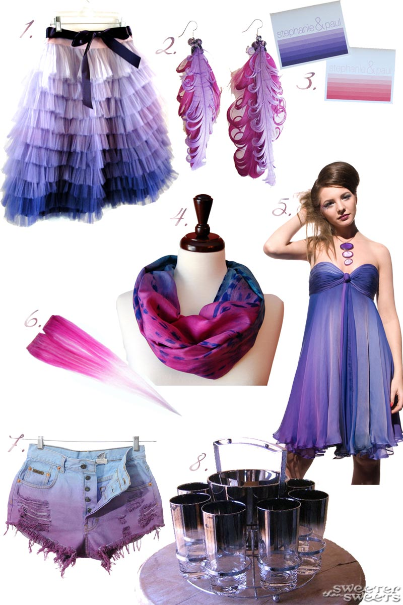 Ombre Inspiration Board by Tricia @ SweeterThanSweets