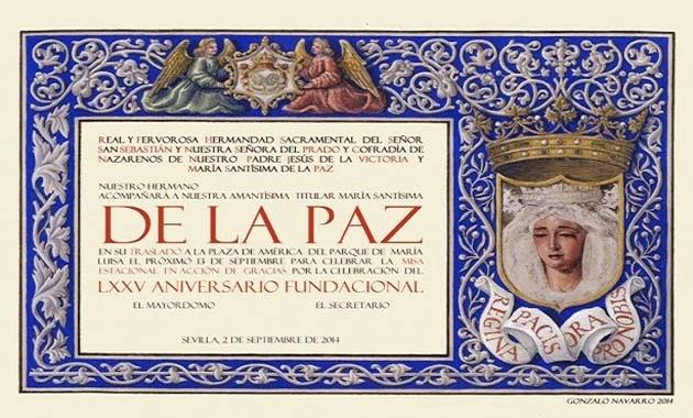 Papeleta_sitio_extraordinaria_La_Paz_75_aniversario_fundación_Sevilla