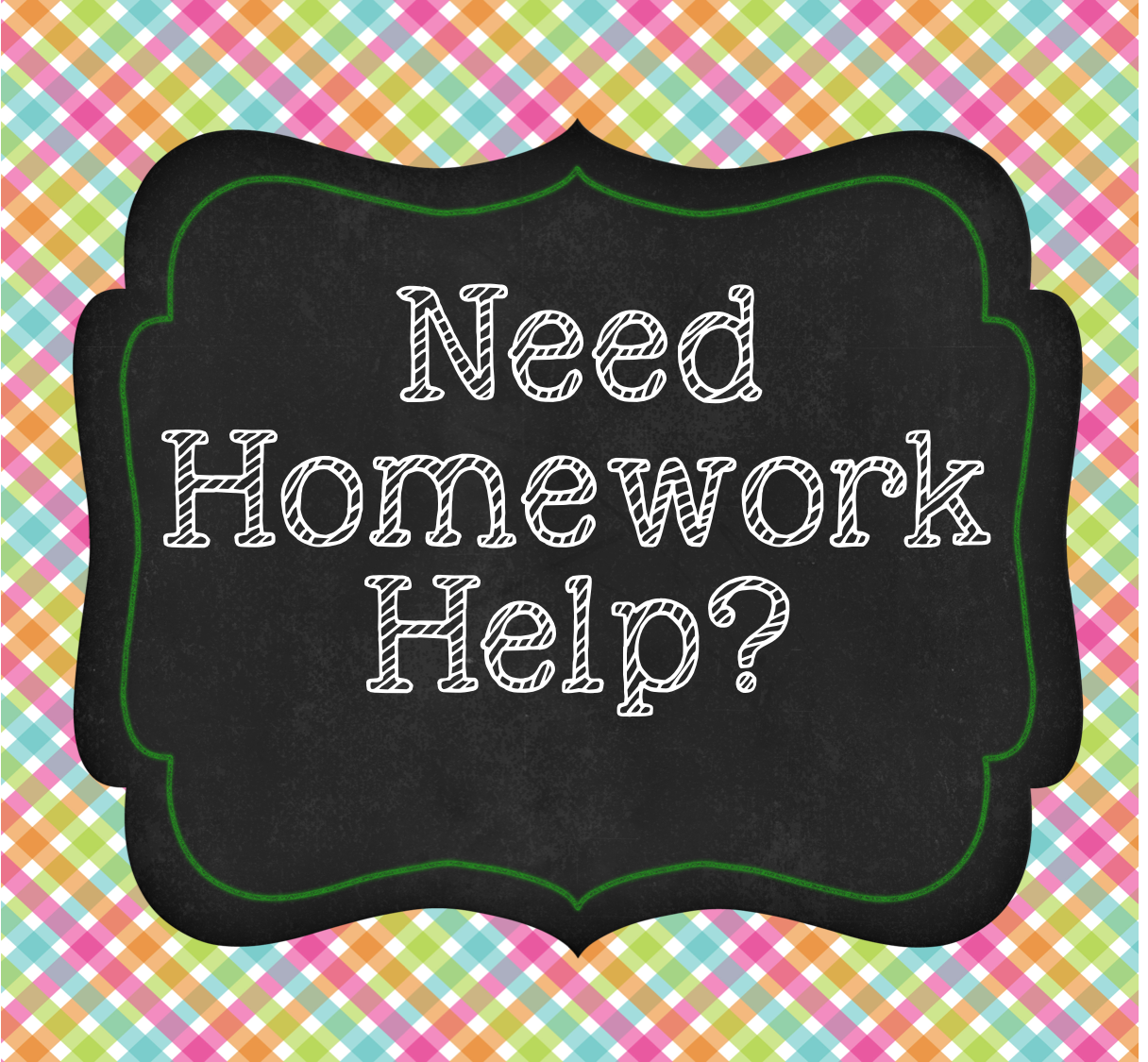 I need help with homework