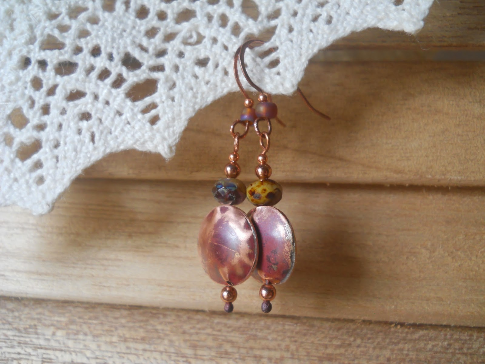 hand crafted hollow bead earrings by wind dancer studios on Etsy