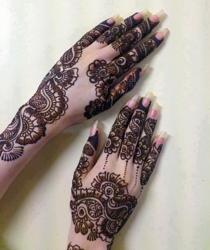 Latest Henna Mehndi Design : Latest mehandi designs for girls bridal hand henna