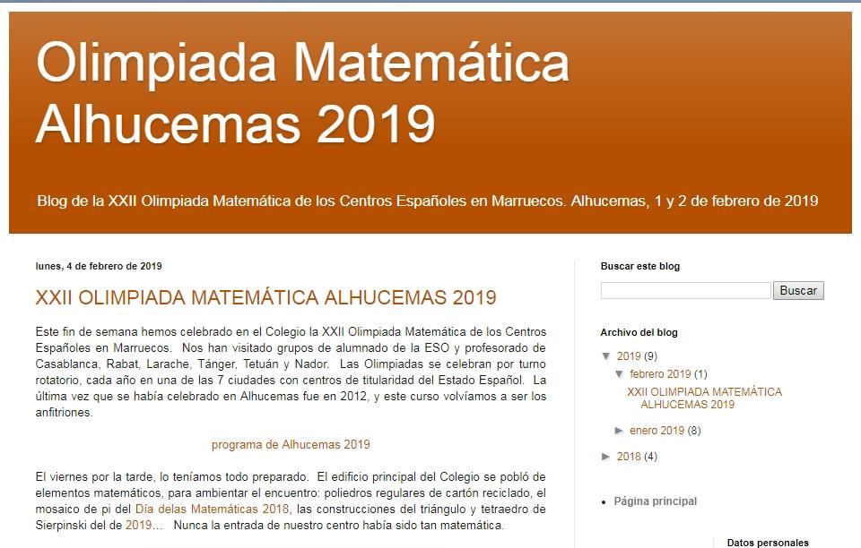 XXII Olimpiada Matemática de los Centros Españoles en Marruecos