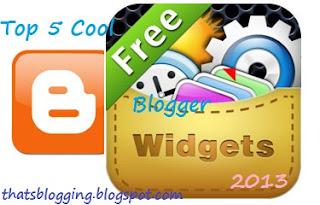 Blogger Widgets 2013