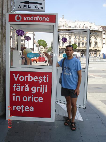 Vorbeste fara griji la Cabina Vodafone in Craiova