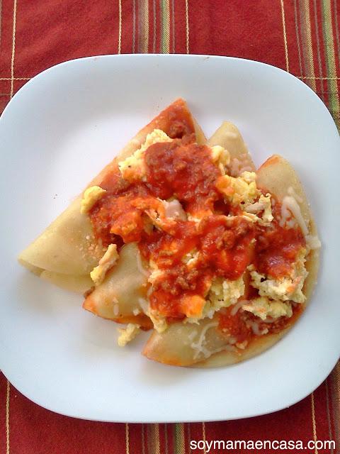 receta de pollo para el desayuno