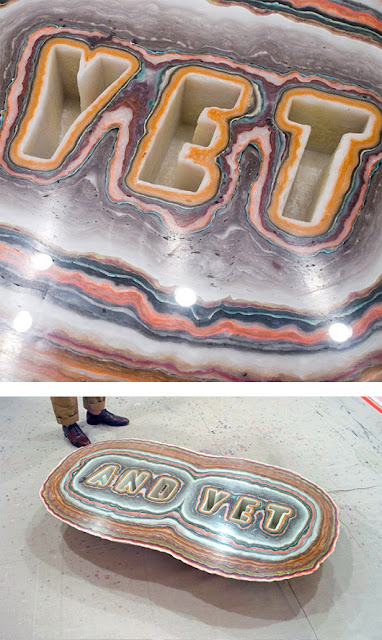 Stunning Layered Wax Typography Art