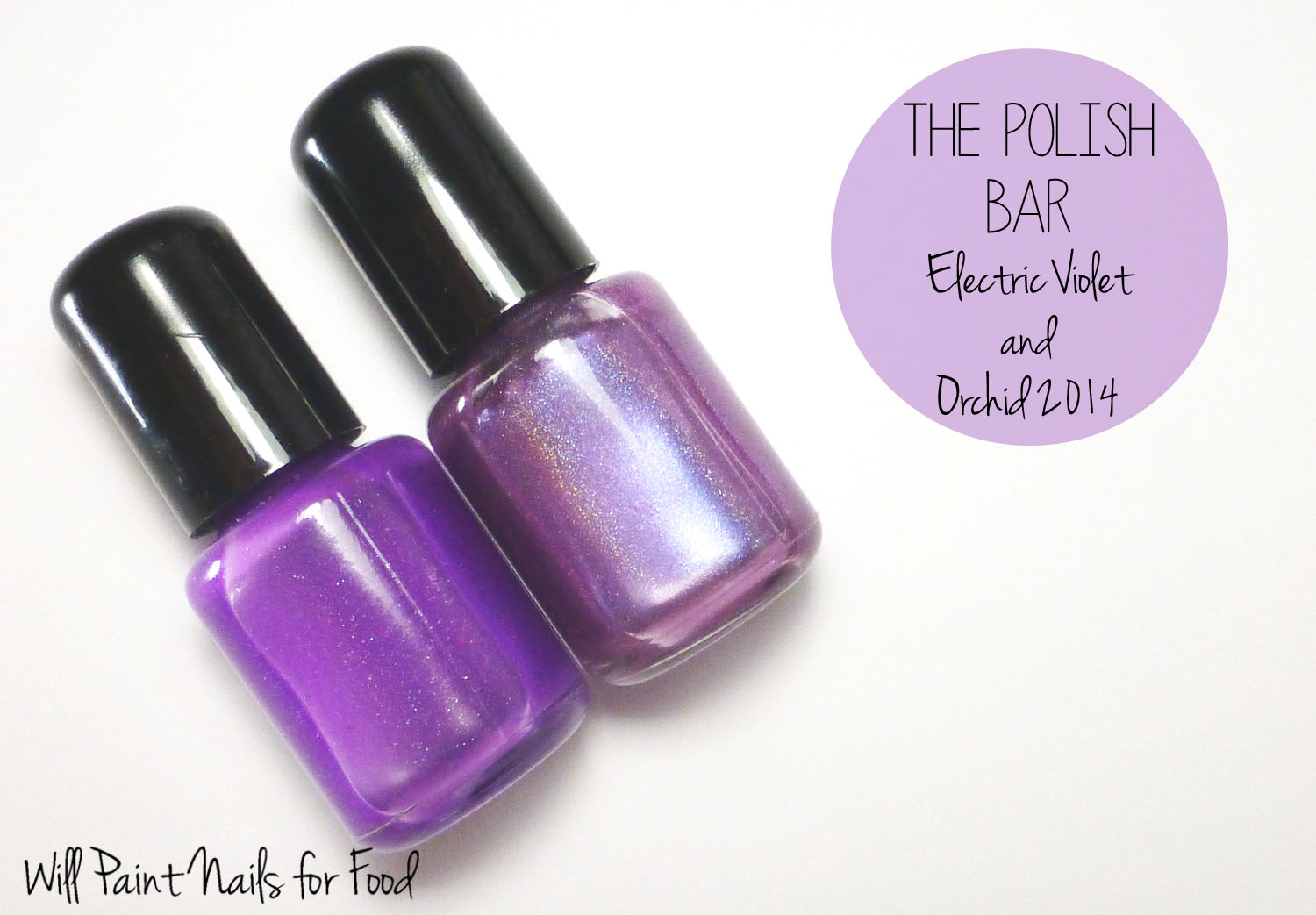The Polish Bar Electric Violet and Orchid 2014