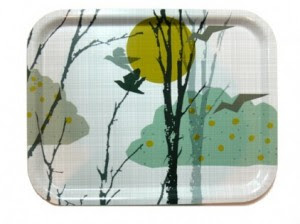 Eskil Design tray with birds and clouds