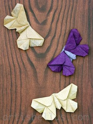 Origami Moths