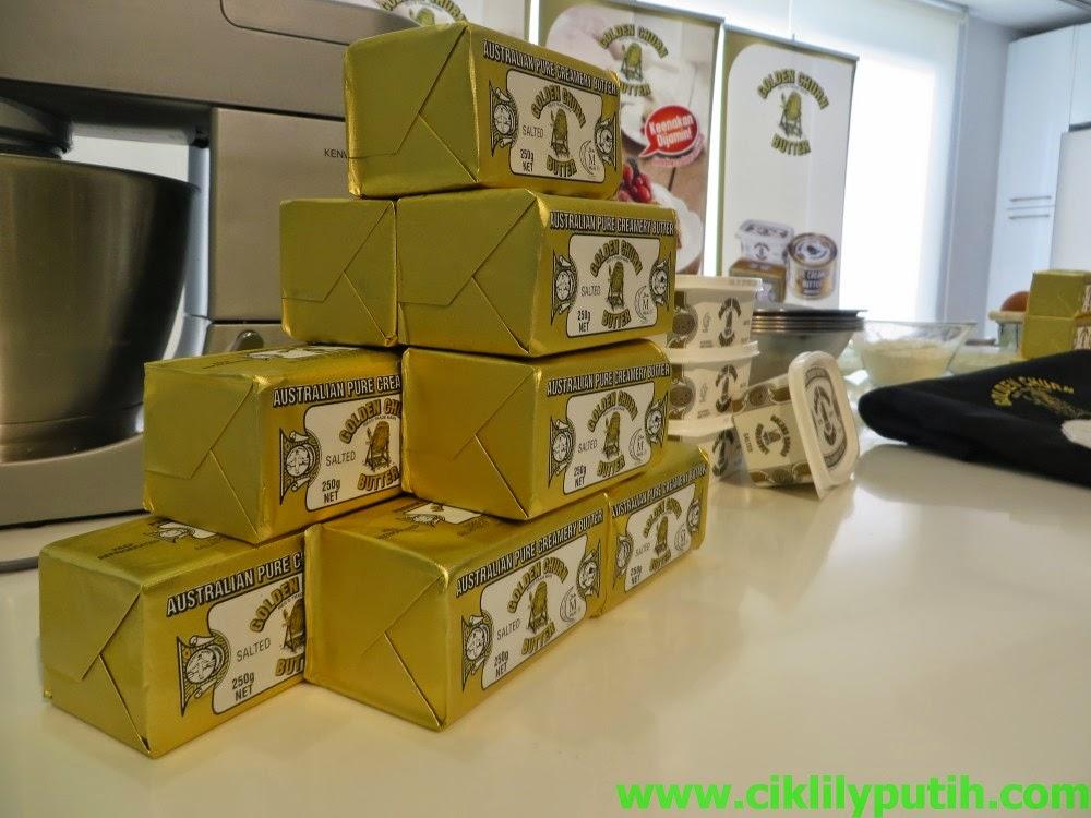 Belajar Buat Kuih Kek Dengan Mentega Golden Churn
